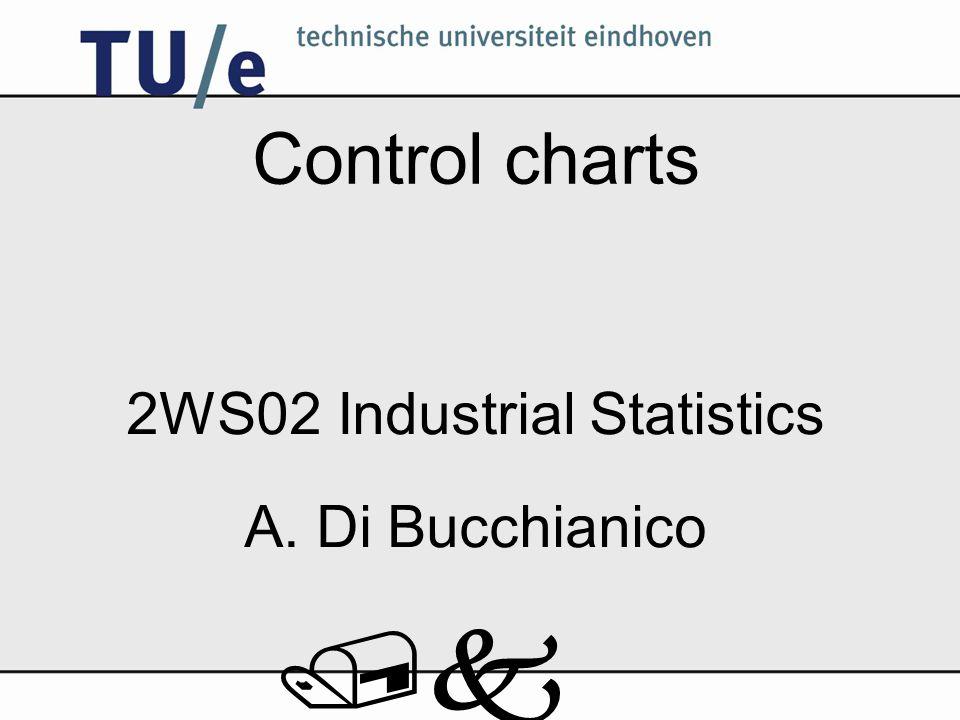 /k Control charts 2WS02 Industrial Statistics A. Di Bucchianico