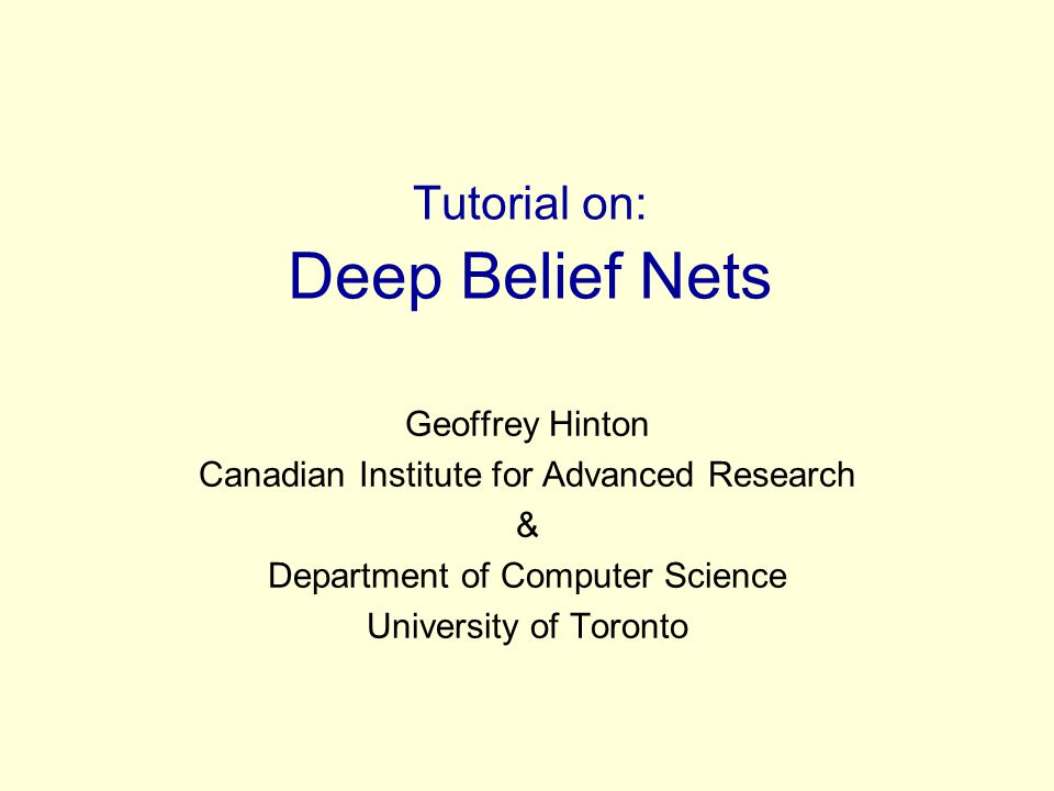 Some methods of learning deep belief nets Monte Carlo methods can be used to sample from the posterior.