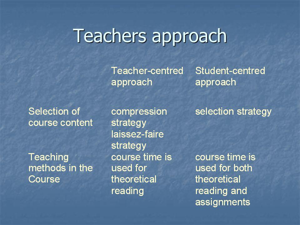 Teachers approach