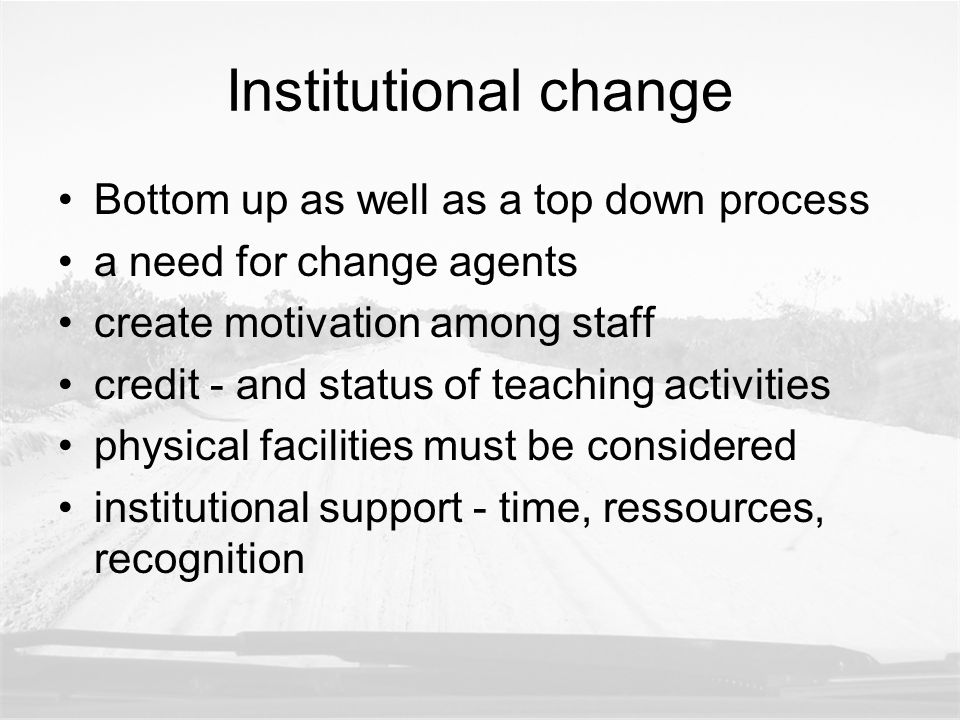 strategies Faculty development strategy Curriculum development strategy – single courses System change