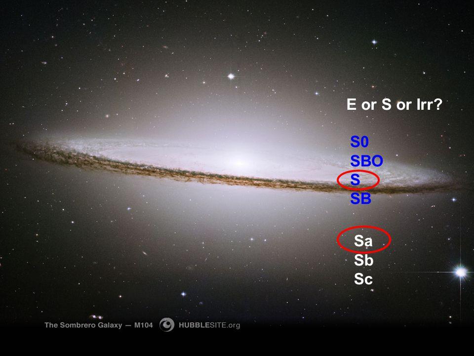 http://hubblesite.org/gallery/wallpaper/pr2003028a/1280_wallpaper E or S or Irr? S0 SBO S SB Sa Sb Sc