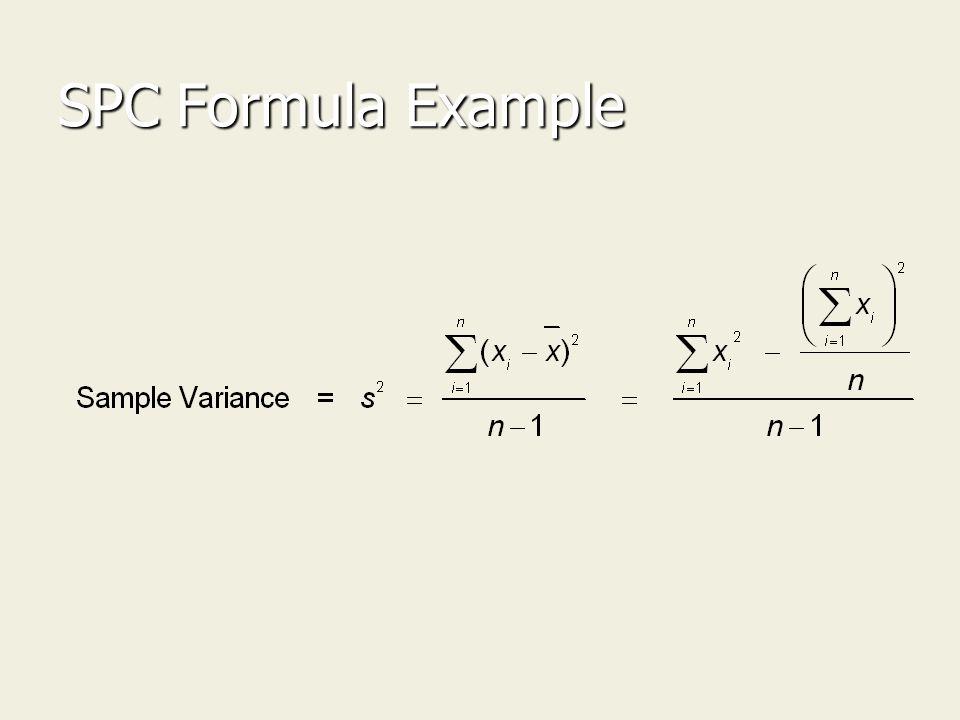 SPC Formula Example