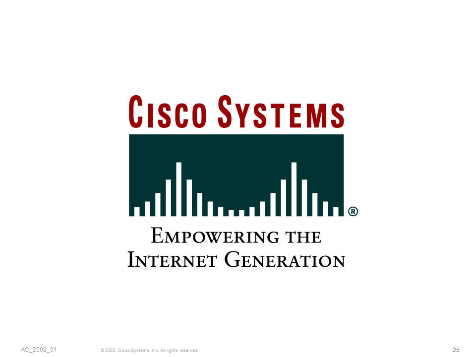 25 © 2002, Cisco Systems, Inc. All rights reserved. AC_2002_01