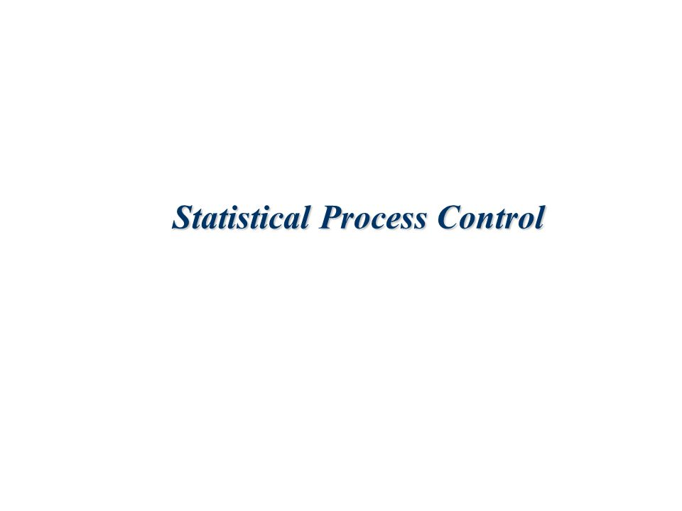 4-2 Lecture Outline  Basics of Statistical Process Control  Control Charts  Control Charts for Attributes  Control Charts for Variables  Control Chart Patterns  SPC with Excel  Process Capability
