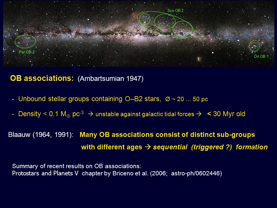 Many observations show star formation near massive stars: Q: Was the formation of the YSOs triggered, or did YSOs form prior to the arrival of the shock waves .