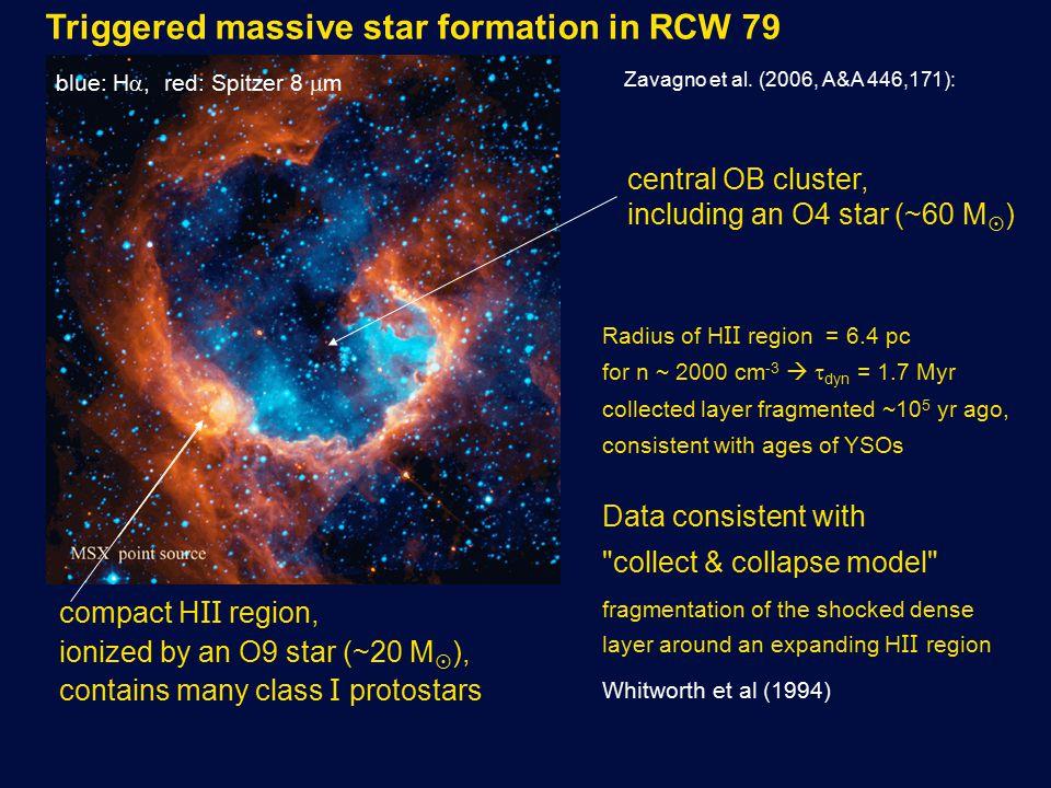 Triggered massive star formation in RCW 79 Zavagno et al.