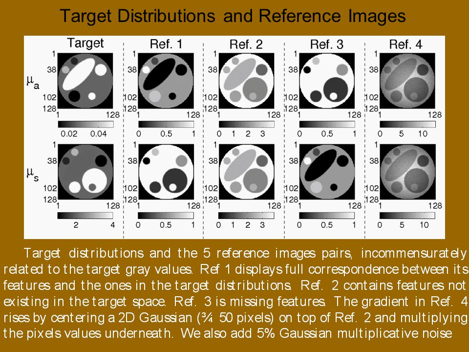 Target Distributions and Reference Images