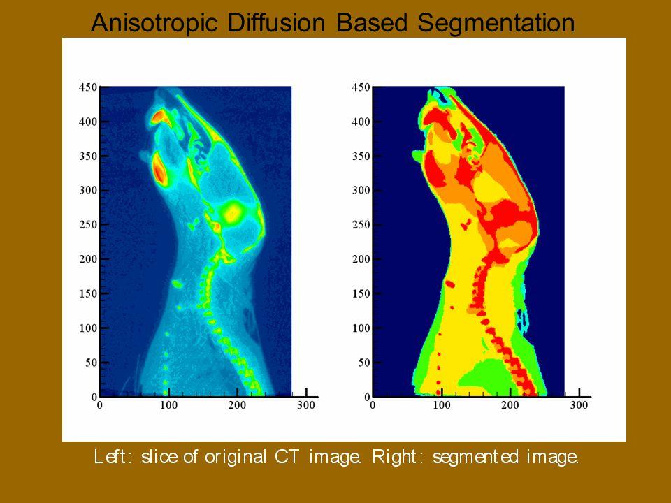 Anisotropic Diffusion Based Segmentation