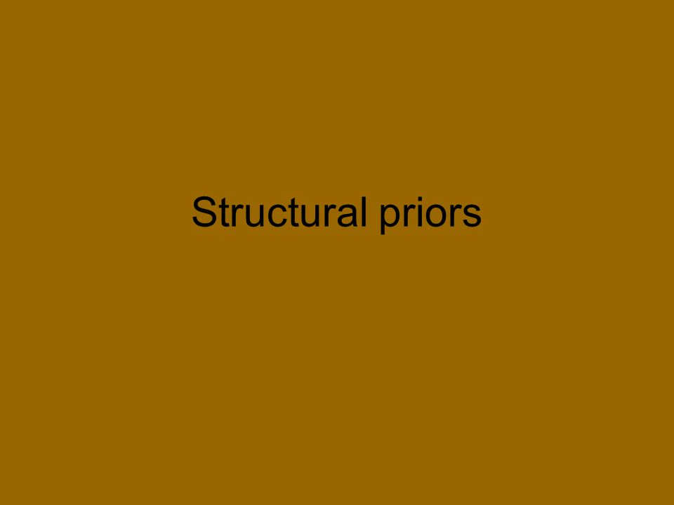 Structural priors