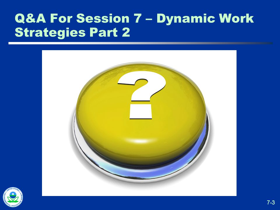 7-3 Q&A For Session 7 – Dynamic Work Strategies Part 2
