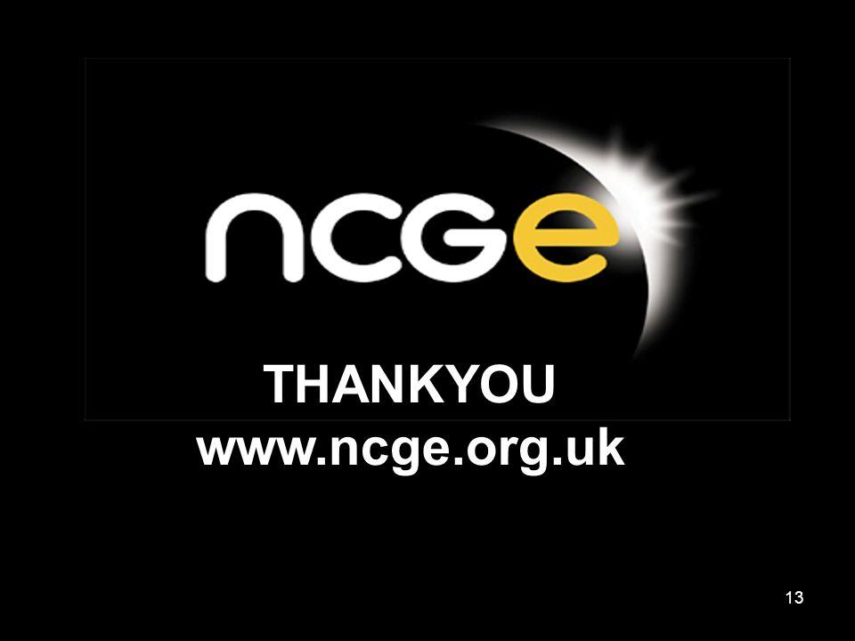 13 THANKYOU www.ncge.org.uk