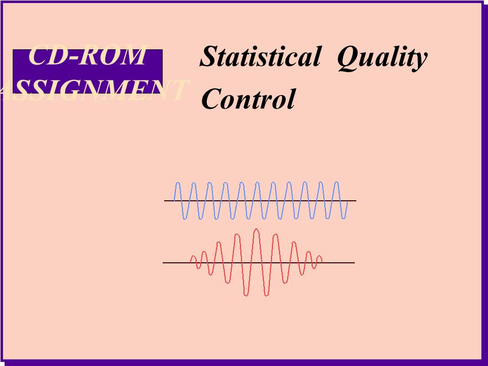 3 Statistical Quality Control Statistical Quality Control CD-ROM ASSIGNMENT