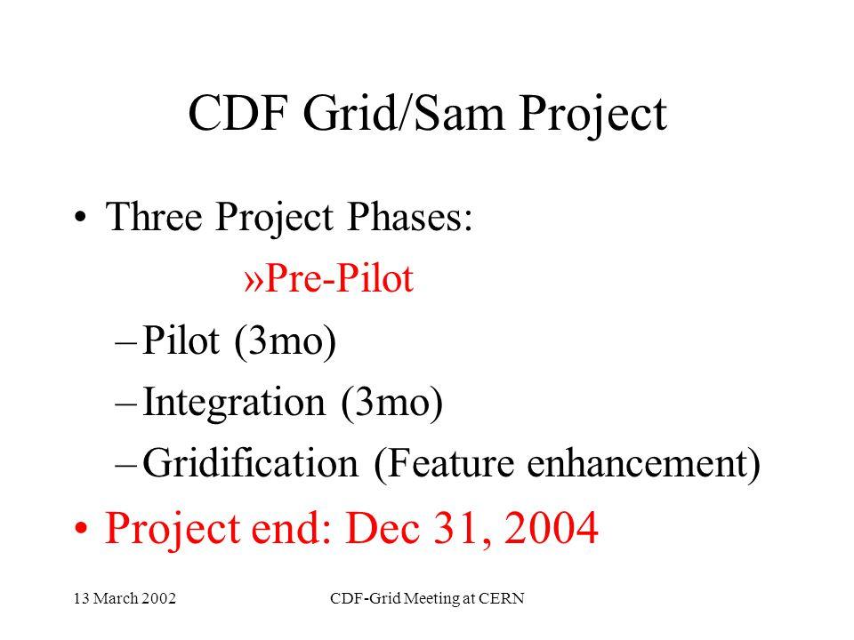 13 March 2002CDF-Grid Meeting at CERN The CDF View of Grid AC++ Grid fcdfsgi2uchep2rutgersukcdfjifa