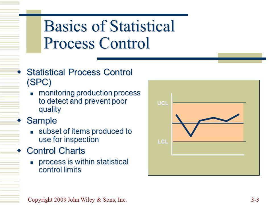 Copyright 2009 John Wiley & Sons, Inc.3-24 x-bar Chart: Standard Deviation Known UCL = x + z  x LCL = x - z  x x 1 + x 2 +...