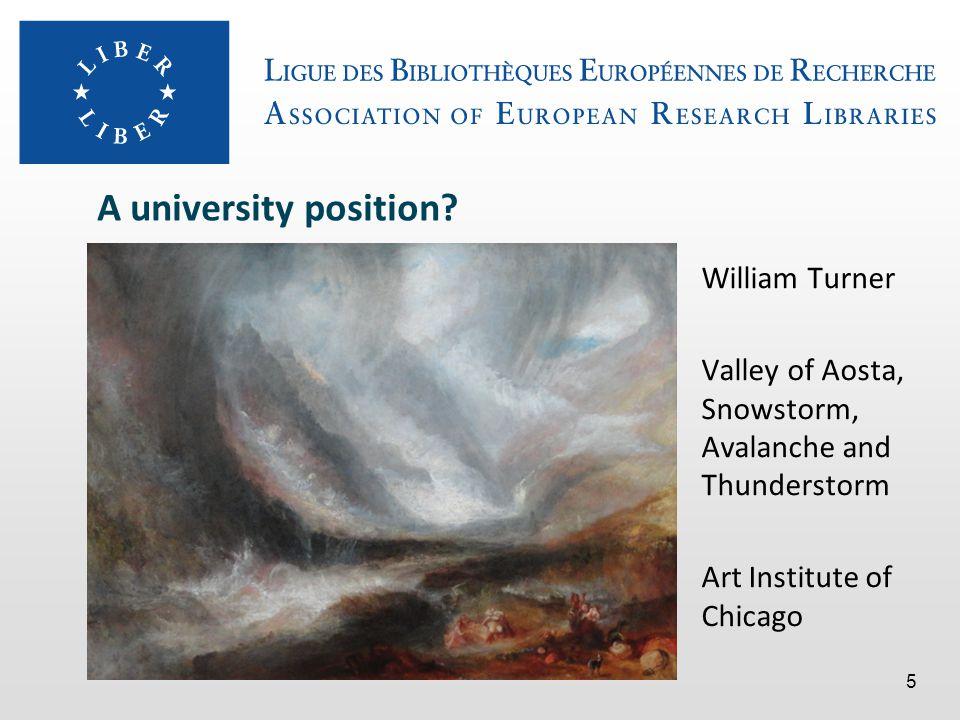 A university position.