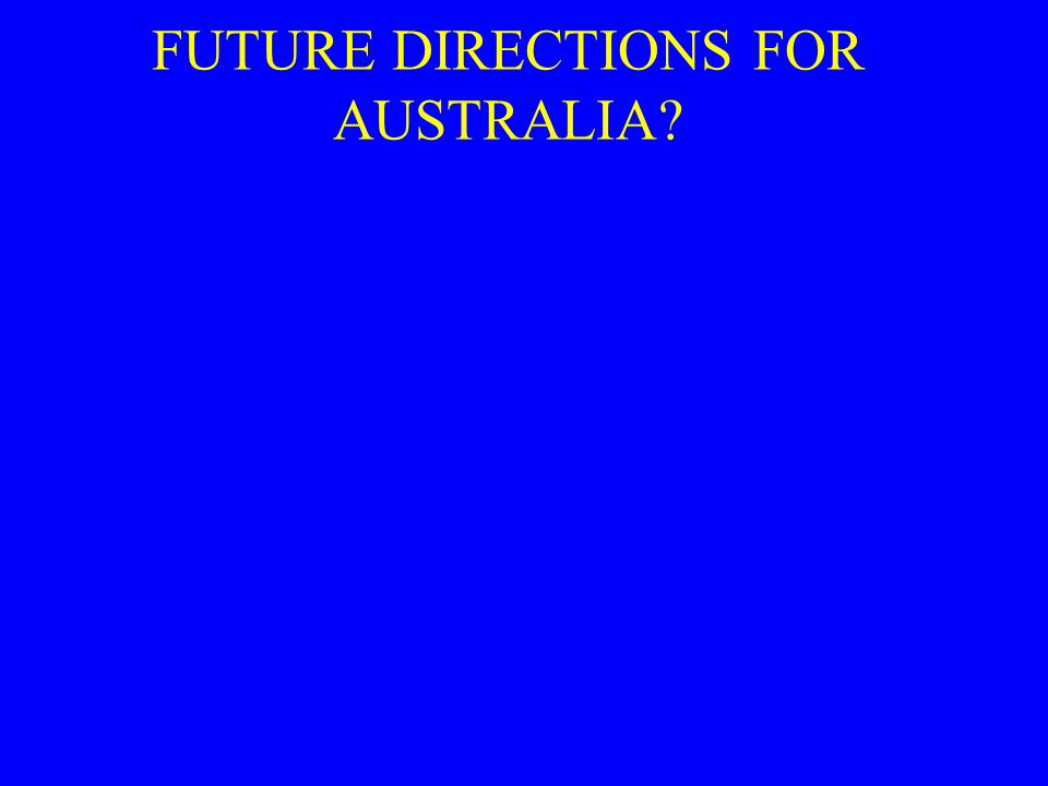 FUTURE DIRECTIONS FOR AUSTRALIA