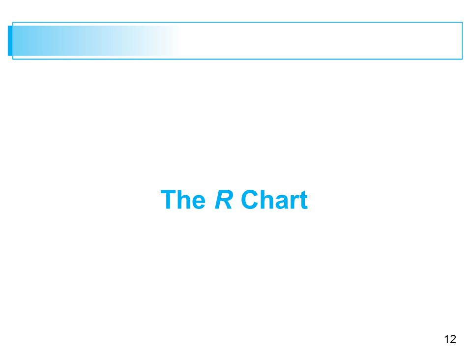 12 The R Chart