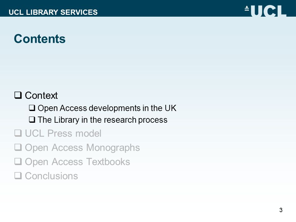 UCL LIBRARY SERVICES OA Policy developments  UK policy position defined by Finch Report and the RCUK policyFinch Report RCUK policy  UK universities prefer Green OA dissemination via repositories  RCUK policy has a preference for Gold  HEFCE mandate for REF 2020 aims to secure near 100% OA compliance for journal articles and conference proceedings HEFCE 4 Saint Jerome in his Study, fresco by Domenico Ghirlandaio, 1480.