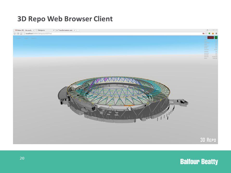 3D Repo Web Browser Client 20