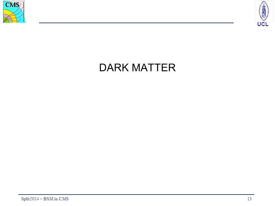 UCL DARK MATTER Split2014 – BSM in CMS13