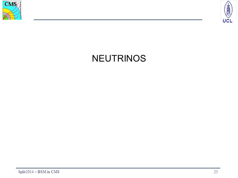 UCL NEUTRINOS Split2014 – BSM in CMS25