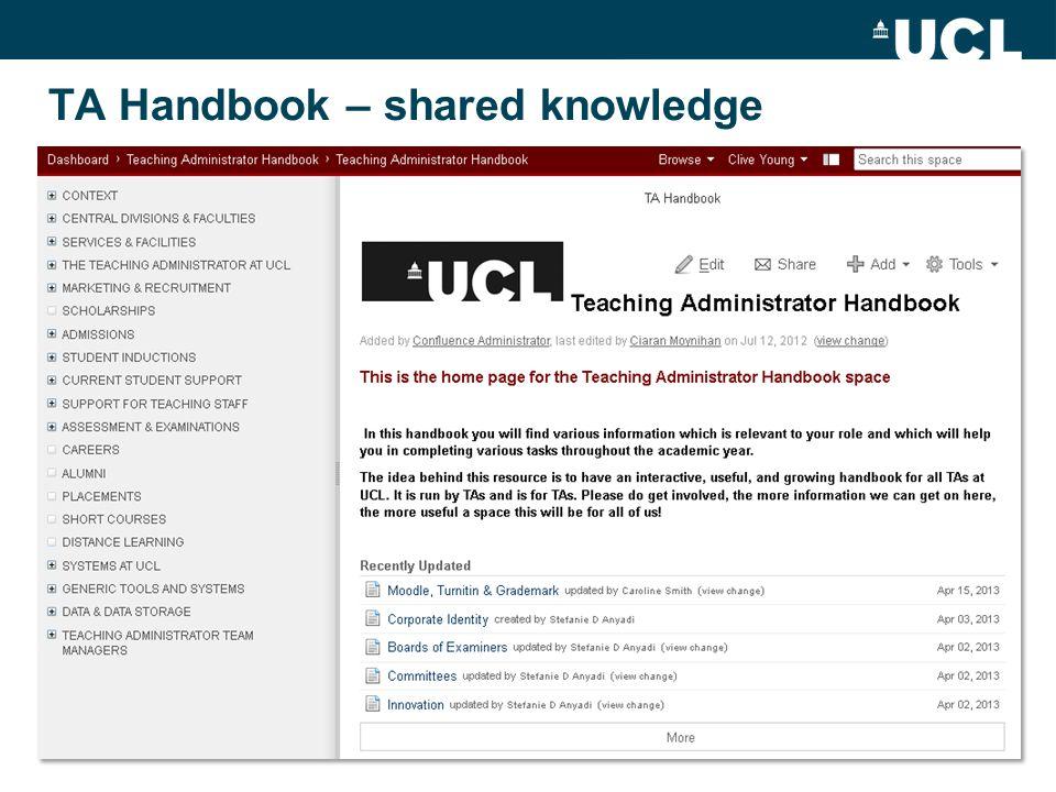 TA Handbook – shared knowledge
