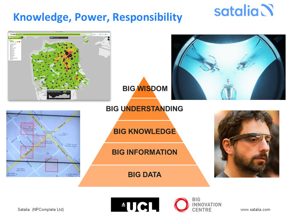 Satalia (NPComplete Ltd)www.satalia.com Knowledge, Power, Responsibility