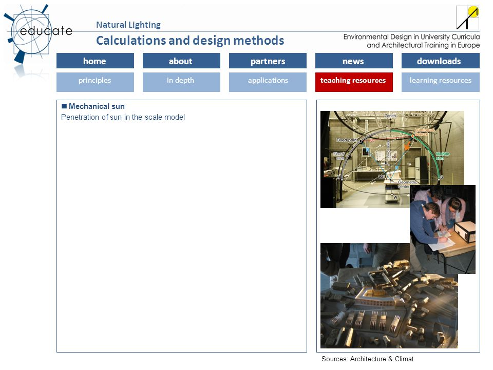 homeaboutpartnersnewsdownloads principlesin depthapplicationsteaching resourceslearning resourcesteaching resources Natural Lighting Mechanical sun Pe