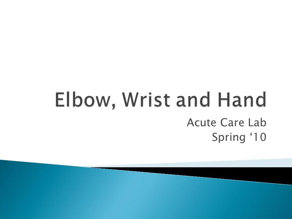 Acute Care Lab Spring '10