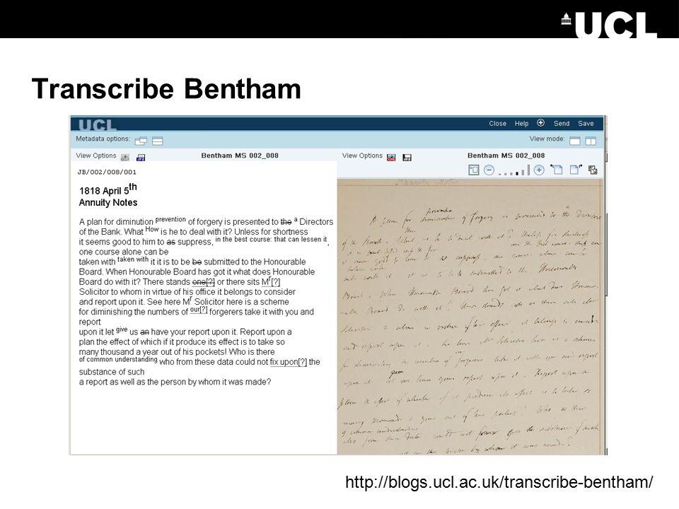 Transcribe Bentham http://blogs.ucl.ac.uk/transcribe-bentham/