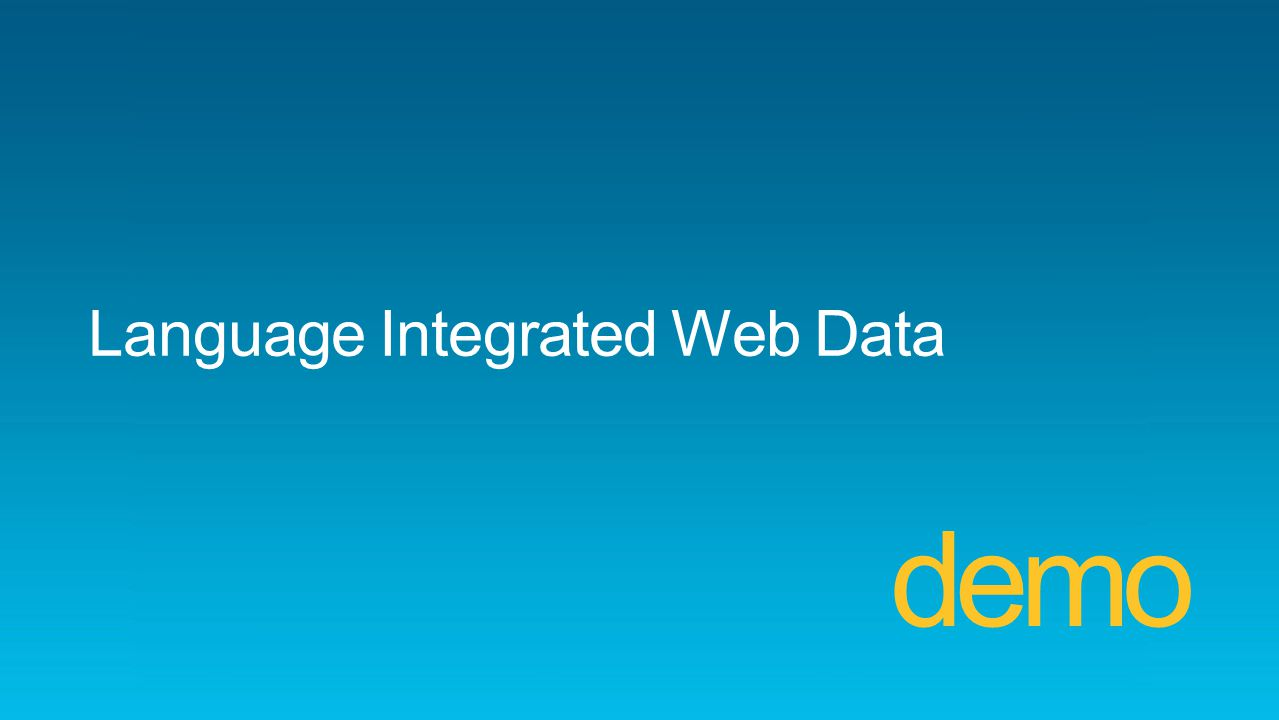 Language Integrated Web Data demo