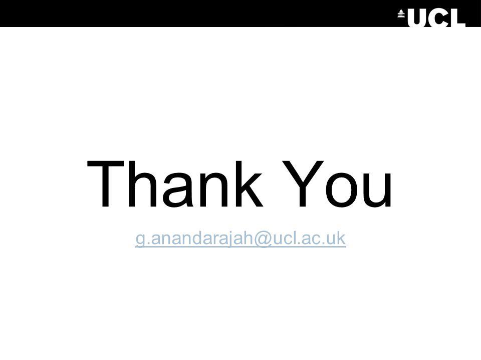 Thank You g.anandarajah@ucl.ac.uk