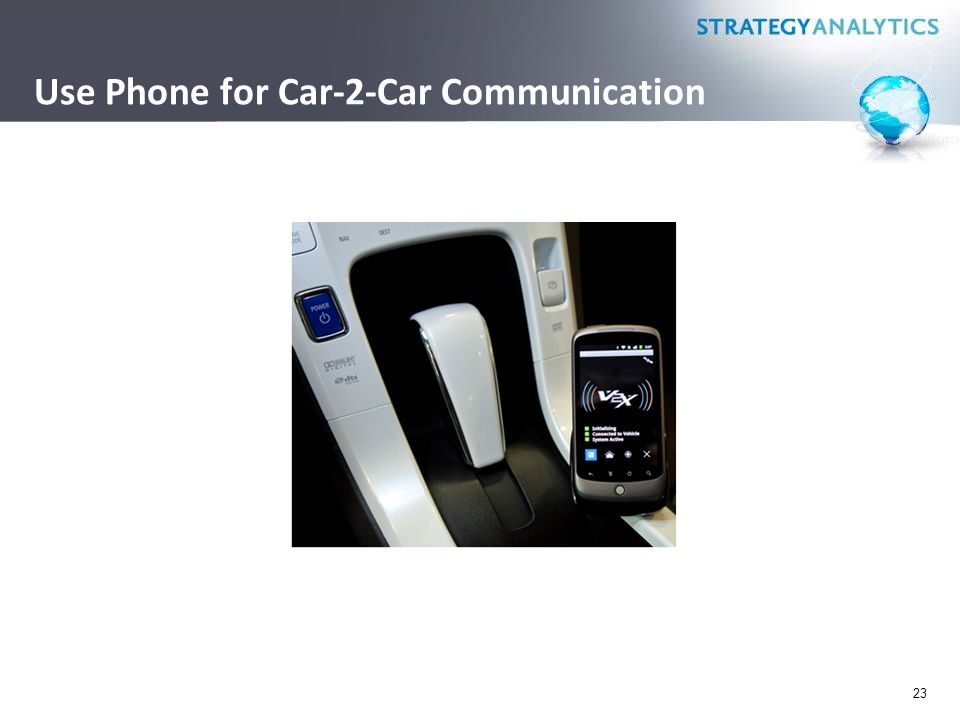 Use Phone for Car-2-Car Communication 23