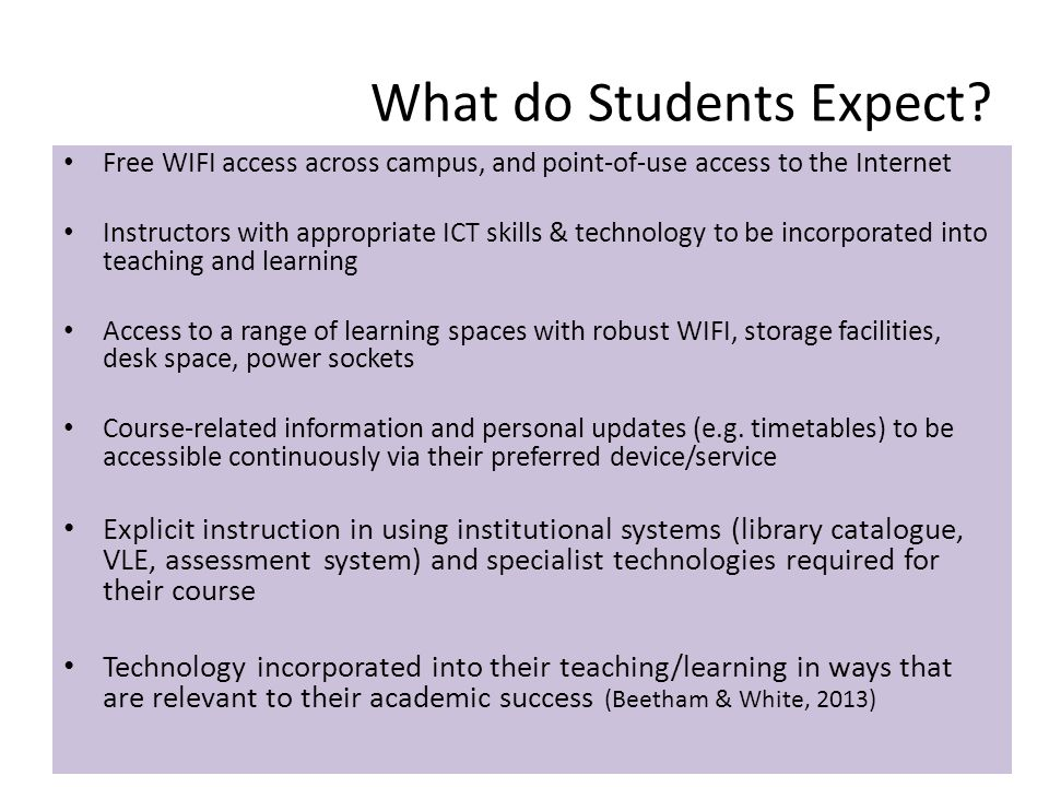 What do Students Expect.