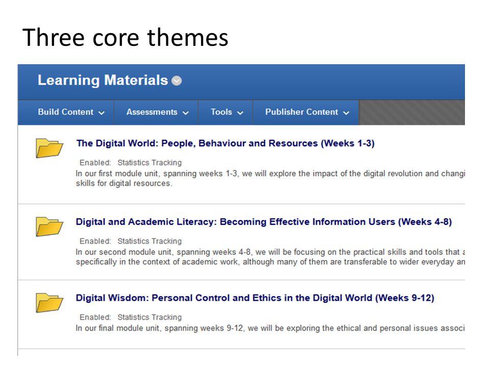 Three core themes