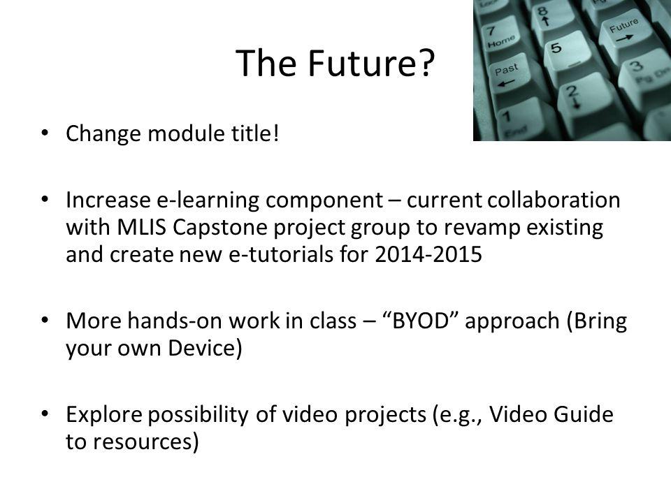 The Future. Change module title.