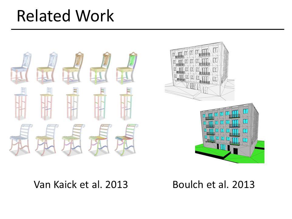 Related Work Van Kaick et al. 2013Boulch et al. 2013