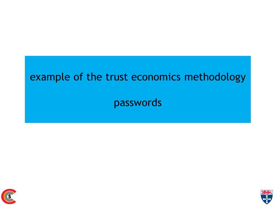 example of the trust economics methodology passwords