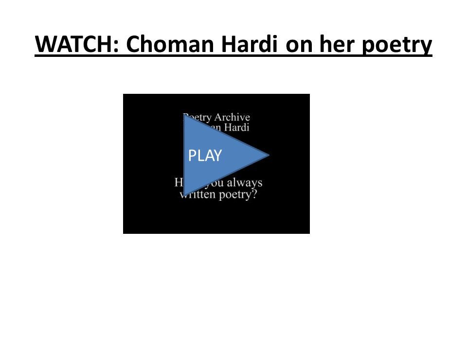 WATCH: Choman Hardi on her poetry PLAY