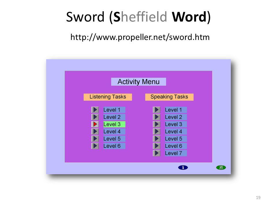 Sword (Sheffield Word) http://www.propeller.net/sword.htm 19