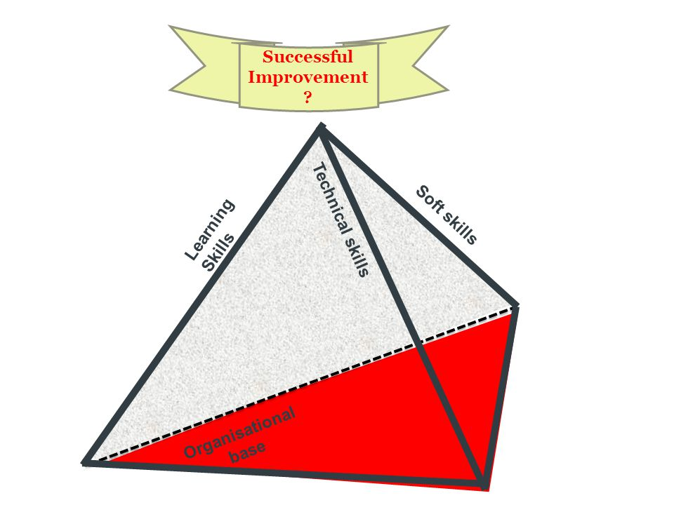 Successful Improvement ? Soft skills Organisational base LearningSkills Technical skills