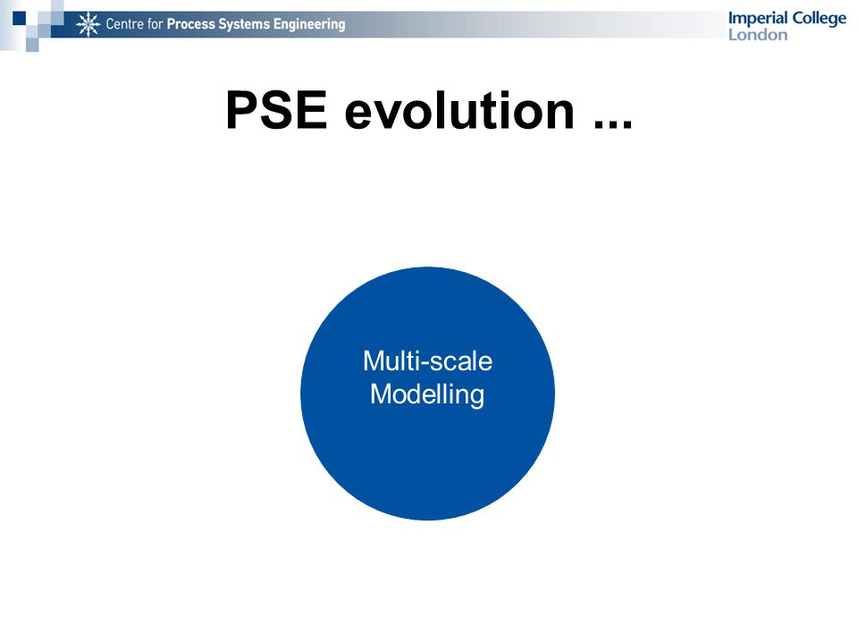 PSE evolution... Multi-scale Modelling