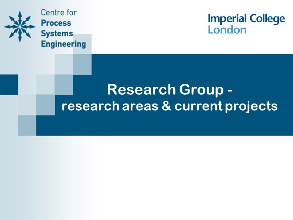 Research Group - research areas & current projects