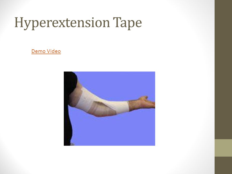 Hyperextension Tape Demo Video