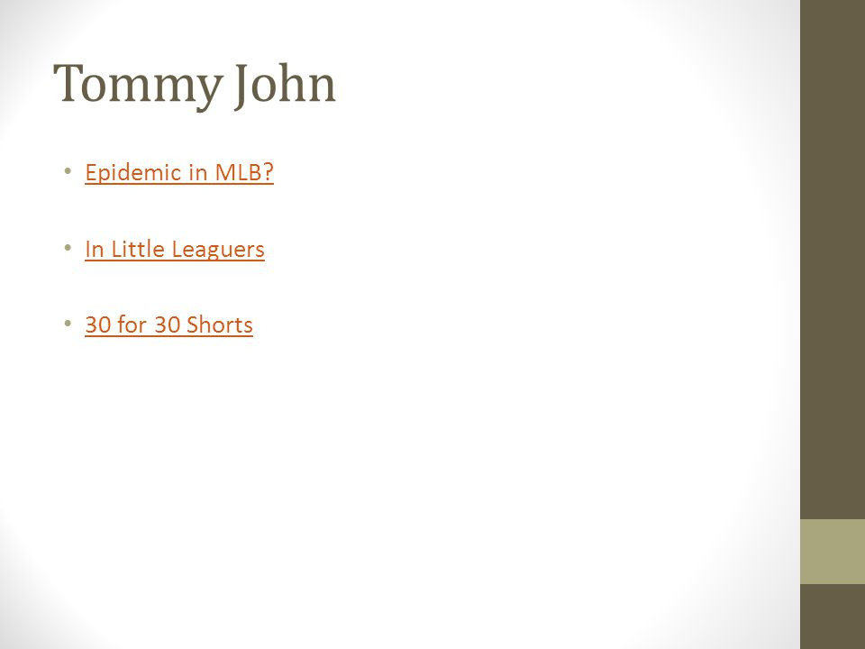 Tommy John Epidemic in MLB In Little Leaguers 30 for 30 Shorts
