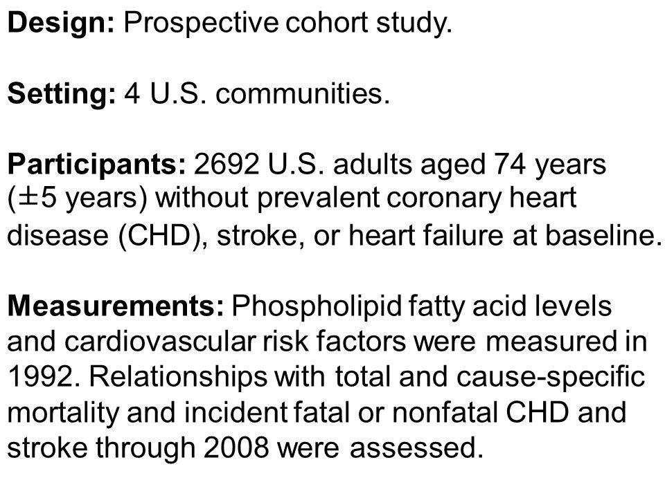 Design: Prospective cohort study. Setting: 4 U.S.