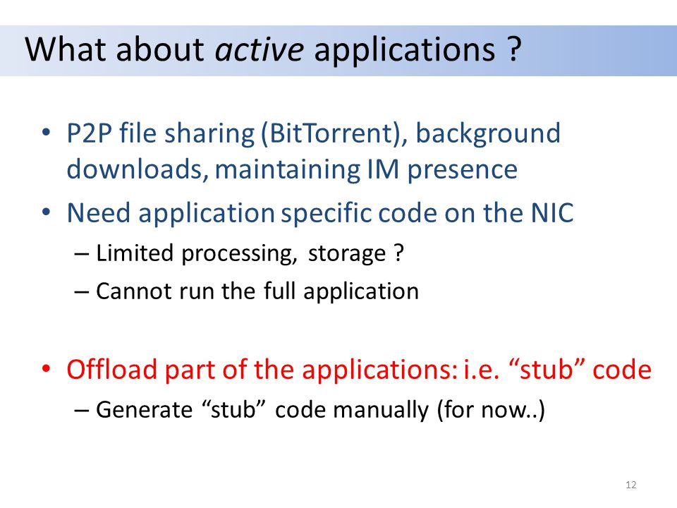 What about active applications .