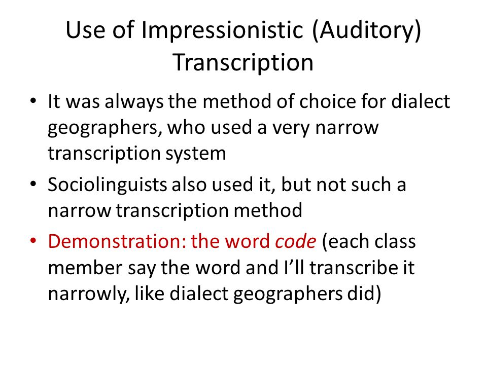 Sociophonetics Much younger than the IPA Acoustic analyses first used in sociolinguistic studies with Labov's Martha's Vinyard study (1963) First dialect identification experiment was 1952 The name sociophonetics dates from 1974