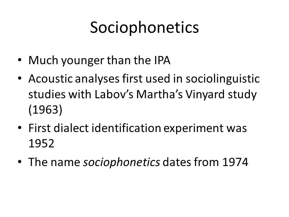 What is Sociophonetics.