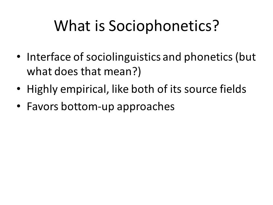 Discussion Question What is the status of functional and structural approaches to linguistics in general and sociolinguistics in particular.